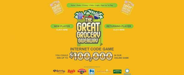 gggcodegame.com – Great Grocery Giveaway Game