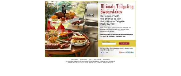 Ultimate Tailgating Sweepstakes