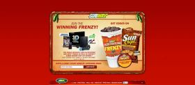 Subway Fiery Footlong Frenzy Instant Win Game