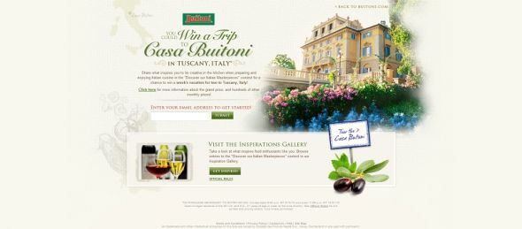Buitoni Discover Our Italian Masterpieces Contest