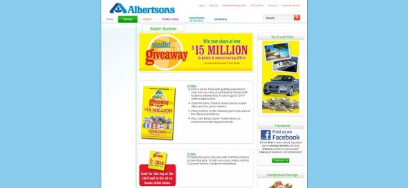 albertsons.com/summergame – Albertsons Sizzlin' Summer Giveaway Collect & Win Game