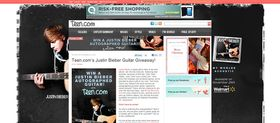 Teen.com Justin Bieber Guitar Giveaway Sweepstakes