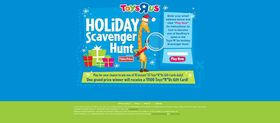 holidayscavengerhunt.com – Toys R Us  Scavenger Hunt Sweepstakes and Instant Win Game