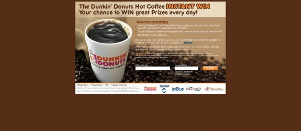 dunkindonuts.com/nyhotcoffee – Dunkin' Donuts Hot Coffee Instant Win