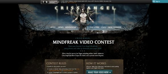 Criss Angel/Animoto Views Contest