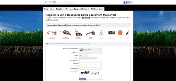 Husqvarna 2011 Backyard Games Husqvarna Lawn Equipment Makeover Contest