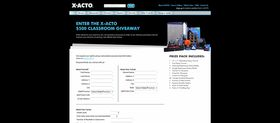X-ACTO $500 Supply Giveaway Promotion