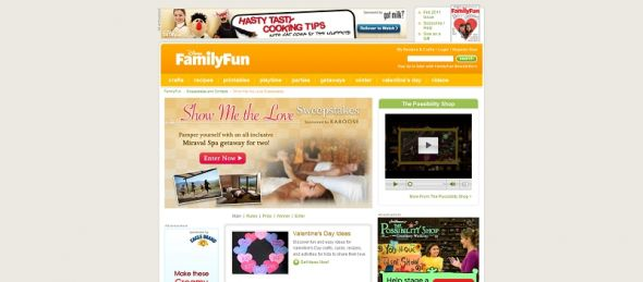 Disney FamilyFun.com Show Me the Love Sweepstakes