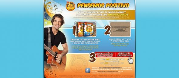 www.telemundo.com/pensemospositivo – Honey Bunches of Oats Jencarlos Canela Sweepstakes
