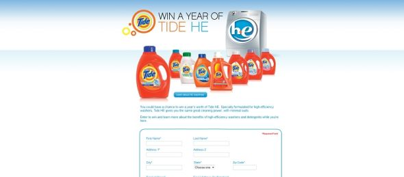 Tide HE Sweepstakes