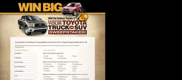 Toyota Giveaway