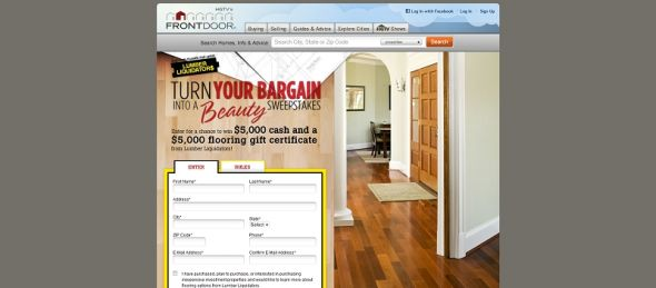 Lumber Liquidators' Turn Your Bargain Into A Beauty Sweepstakes