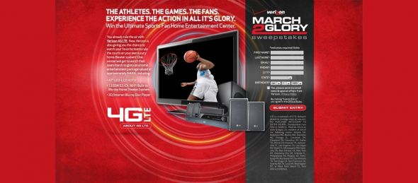 march2glory.com – Verizon Wireless March 2 Glory Sweepstakes