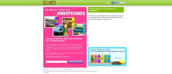 Pine-Sol Scent Away Sweepstakes