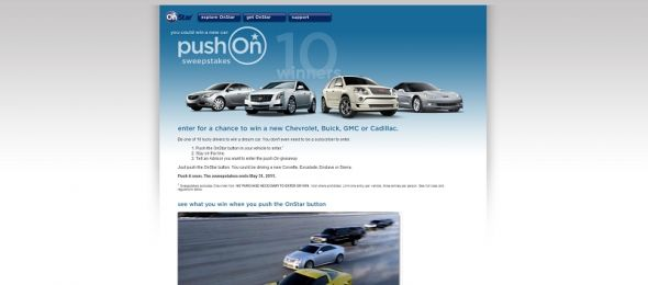 OnStar Push-On Sweepstakes
