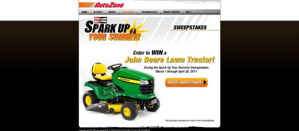 Champion Lawn Tractor Giveaway Sweepstakes
