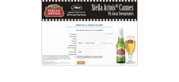 Stella Artois Cannes Fly Away Sweepstakes