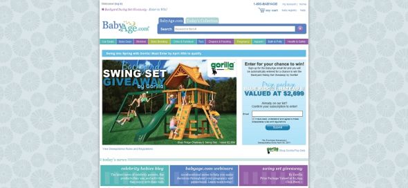 BabyAge.com Backyard Swing Set Giveaway by Gorilla Sweepstakes