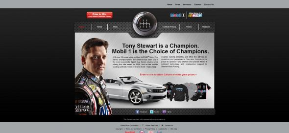 Mobil 1 and Tony Stewart–Customized Camaro Sweepstakes
