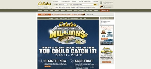 Cabela's Wanna Go Fishing For Millions Challenge