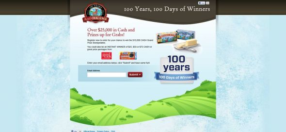 www.challengebutter100years.com – 100 Years, 100 Days of Winners Sweepstakes
