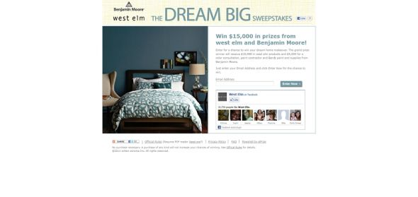 West Elm Dream Big Sweepstakes