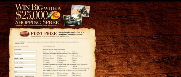 Bass Pro Shops Shopping Spree Contest