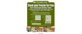 Cedarlane Natural Foods Stock your Freezer for Free Giveaway
