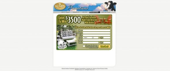 Kemps Patio Furniture Sweepstakes