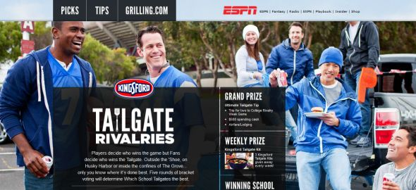 Kingsford Tailgate Sweepstakes