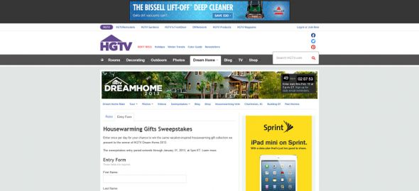 HGTV's Dream Home Housewarming Gifts Giveaway