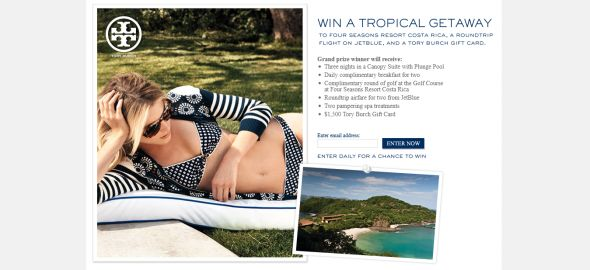 Win A Tropical Getaway Sweepstakes