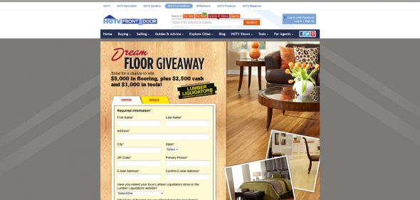Lumber Liquidators Dream Floor Giveaway