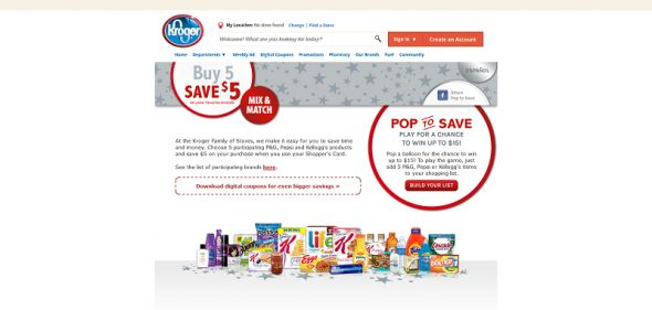 poptosave.com – Pop To Save Instant Win Game