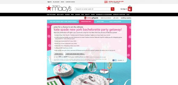 kate spade new york Bachelorette Getaway Sweepstakes