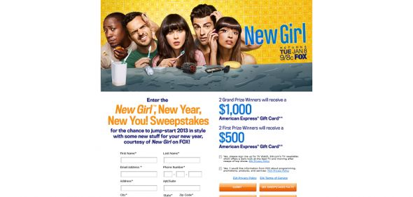 New Girl, New Year, New You! Sweepstakes
