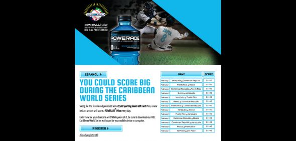 poweradebeisbol.com &#8211; Powerade Beisbol Promotion