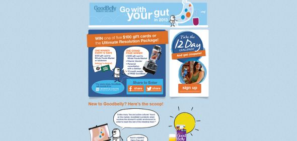 goodbellysweeps.com – GoodBelly New Year's Sweepstakes