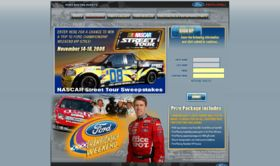 NASCAR Street Tour Sweepstakes Presented by Ford