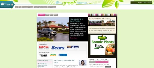 Hgtv Green Home Giveaway Sweepstakes