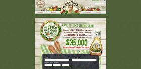 Newman's Own Greens for Good Salad Recipe Contest
