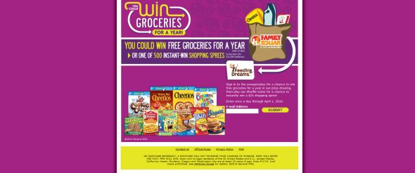 Win Free Groceries for a Year from Family Dollar and Feeding Dreams Sweepstakes