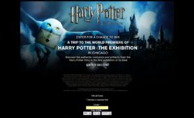 Harry Potter The Exhibition Sweepstakes