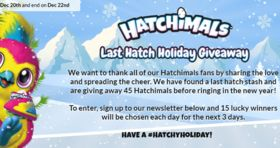 Spin Master Hatchimals Hatchimal-A-Day Giveaway