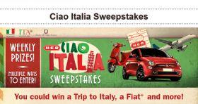 HEB.com/Italy – Ciao Italia Sweepstakes 2016