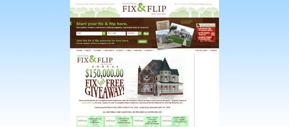 National Fix and Flip Networks NFAFN Fix for Free Giveaway Sweepstakes