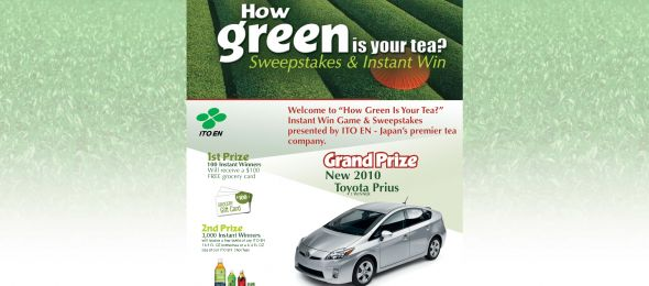 ITO-EN How Green is Your Tea? Instant Win Game & Sweepstakes