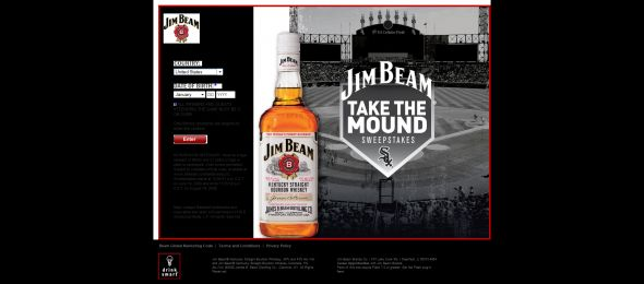 Jim Beam's Take the Mound Sweepstakes