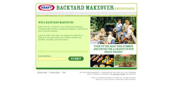 Kraft Backyard Makeover Sweepstakes