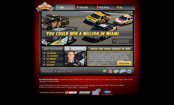 Kraft Race to Win a Million Dollars Sweepstakes